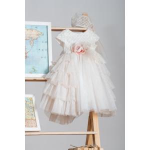 Ολοκληρωμένο πακέτο βάπτισηs με αυτό το Φόρεμα (Neonato Κωδ.ΝΚ036) Mε το κουτί Ζητήστε προσφορά!!!!!