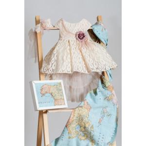 Ολοκληρωμένο πακέτο βάπτισηs με αυτό το Φόρεμα (Neonato Κωδ.ΝΚ043) Mε το κουτί Ζητήστε προσφορά!!!!!