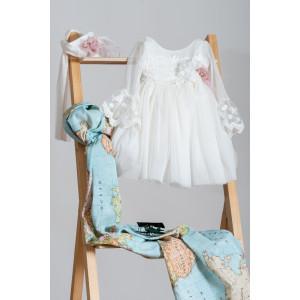 Ολοκληρωμένο πακέτο βάπτισηs με αυτό το Φόρεμα (Neonato Κωδ.ΝΚ045) Mε το κουτί Ζητήστε προσφορά!!!!!