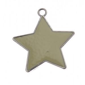 Διακοσμητικό Αστέρι Μεταλλικό  NU1810 Ασημένιο Nuova Vita
