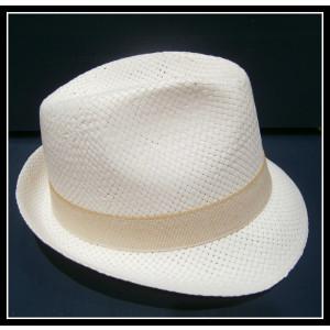 Καβουράκι ψάθινο λευκό-μπεζ (ΚΩΔ:10006)