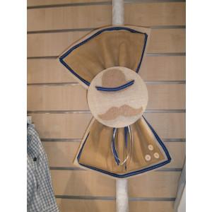 Λαμπάδα μουστάκι μικρός κύριος φιόγκος γάζα Κωδ.Α1016-1