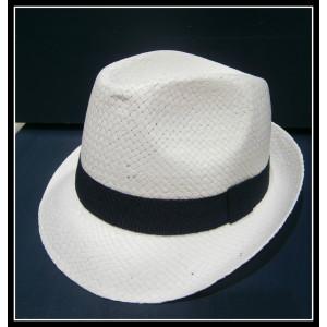 Καβουράκι ψάθινο λευκό-μπλε (ΚΩΔ:10017)