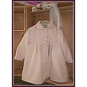 Παλτό μάλλινο, ρόζ αντικέ aslanis (Κωδ.253-50)