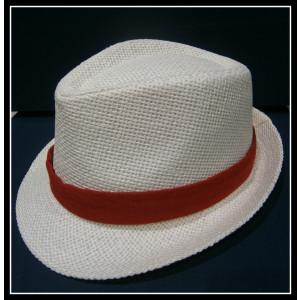 Καβουράκι ψάθινο λευκό-κόκκινο (ΚΩΔ:10047)
