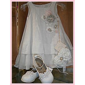 Ολοκληρωμένο πακέτο βάπτισηs με αυτό το φόρεμα  (Bambolino Κωδ.014.112.133) Με Βάλίτσα η παγκάκι θρανίο !!!!