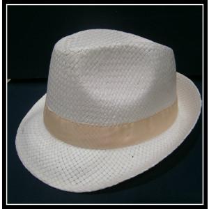 Καβουράκι ψάθινο λευκό-μπεζ (ΚΩΔ:10071)