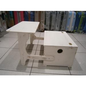 Ξύλινο παγκάκι θρανίο vintage (Κωδ: 19-350)
