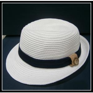 Καπελάκι λευκό-μπλε (ΚΩΔ:10081)