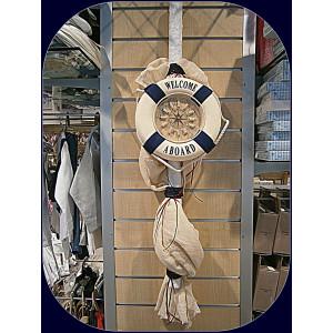 Λαμπάδα ναυτική σωσίβιο-ρολόι 10018