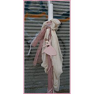 Λαμπάδα γάζα χειρός μπαλαρίνα Β1217