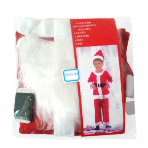 Στολή Άγιος Βασίλης Παιδική (8-12 Ετών) (Κωδ.646.123.002)