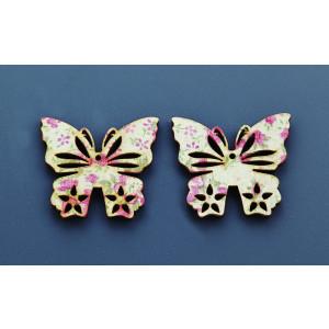 Μπομπονιέρες Βάπτισης Ξύλινη Πεταλούδα Floral ΝΚ030 Nuova Vita