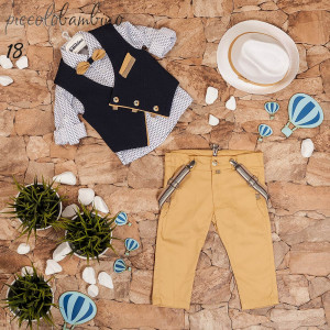 Ολοκληρωμένο σετ βάπτισης αγόρι Piccolo bambino 358-25 narlis.gr