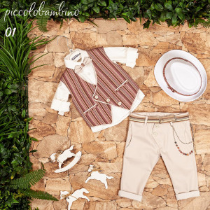 Ολοκληρωμένο σετ βάπτισης αγόρι Piccolo bambino 401-1 narlis.gr