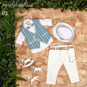 Ολοκληρωμένο σετ βάπτισης αγόρι Piccolo bambino 401-2 narlis.gr
