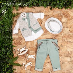 Ολοκληρωμένο σετ βάπτισης αγόρι Piccolo bambino 400-3  narlis.gr
