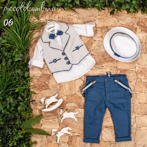 Ολοκληρωμένο σετ βάπτισης αγόρι Piccolo bambino 402-6 narlis.gr