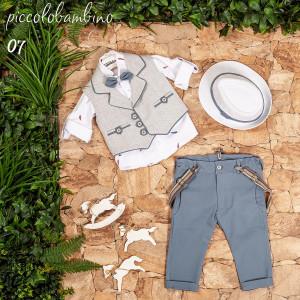 Ολοκληρωμένο σετ βάπτισης αγόρι Piccolo bambino 402-7  narlis.gr