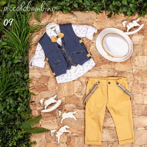 Ολοκληρωμένο σετ βάπτισης αγόρι Piccolo bambino 407-9  narlis.gr