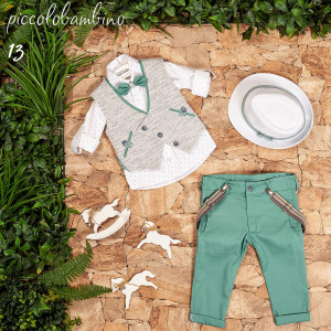 Ολοκληρωμένο σετ βάπτισης αγόρι Piccolo bambino 409-13  narlis.gr