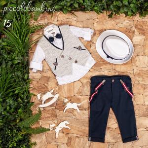 Ολοκληρωμένο σετ βάπτισης αγόρι Piccolo bambino 409-15  narlis.gr