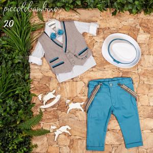 Ολοκληρωμένο σετ βάπτισης αγόρι Piccolo bambino 406-20 narlis.gr
