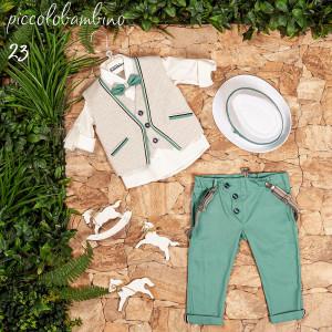 Ολοκληρωμένο σετ βάπτισης αγόρι Piccolo bambino 404-23 narlis.gr