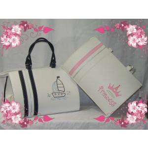 Τσάντα Δερμάτινη Καραβάκι Βάπτισης(50583)