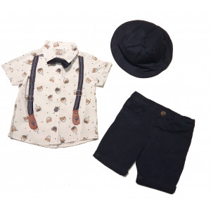 Πουκάμισο Με Βερμούδα Και Καπέλο Τραξ Bebus 8600