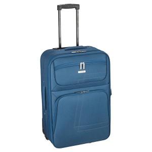 Βαλίτσα υφασμάτινη μεγάλη Rcm  Πετρολ (κωδ.124-22) Επεκτεινόμενη!! Δωρεάν μεταφορικά. Μόνο για λίγο!!!!!!!!