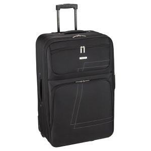 Βαλίτσα υφασμάτινη μεγάλη Rcm  Black (κωδ.124-44) Επεκτεινόμενη!! Δωρεάν μεταφορικά. Μόνο για λίγο!!!!!!!!
