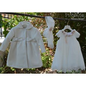 Ολοκληρωμένο σετ βάπτισης κορίτσι piccolino DR19F32 RENATA BEIGE-105 Με βαλίτσα rain η θρανίο παγκάκι!!!!