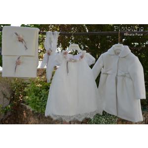 Ολοκληρωμένο σετ βάπτισης κορίτσι piccolino DR19F32 RENATA PUCE-105 Με βαλίτσα rain η θρανίο παγκάκι!!!!