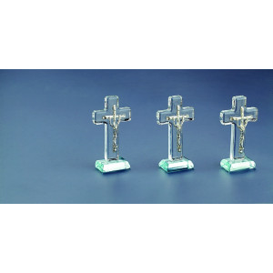 Μπομπονιέρες Γάμου Βάπτισης Γυάλινος Εικόνα Σταυρός C305Μ Nuova Vita