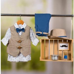 Ολοκληρωμένο πακέτο βάπτισης με αυτό το κοστούμι Bambolino Themis (#8847-170-330#) Με βαλίτσα rain η παγκάκι θρανίο Ζητήστε προσφορά !!
