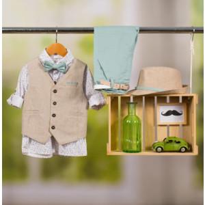Ολοκληρωμένο πακέτο βάπτισης με αυτό το κοστούμι Bambolino Tolis (#8862-175-335#) Με βαλίτσα rain η παγκάκι θρανίο Ζητήστε προσφορά !!