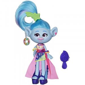 Trolls Deluxe Fashion Κούκλα Glam Chenille (E6569 / E7188)
