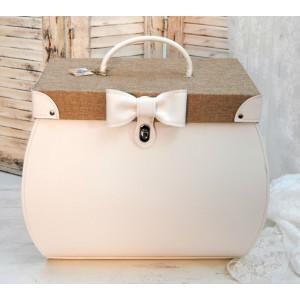 Τσάντα δερματίνη με λινάτσα (Κωδ.0014)