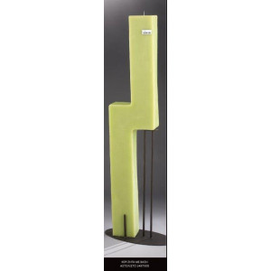 Λαμπάδα κερί ζήτα με βάση αστόλιστο (Κωδ.2487500) (Η τιμή αφορά 2 Τεμάχια)