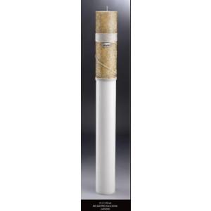 Λαμπάδα με χάντρες και σχοινί 15x140cm (Kωδ.2455000) (Η τιμή αφορά 2 Τεμάχια)