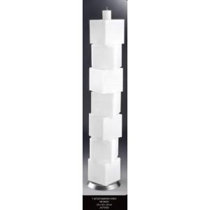 Λαμπάδα 7 αποσπώμενοι κύβοι 20x20x20cm με βάση (Κωδ.2475500) (Η τιμή αφορά 2 Τεμάχια)