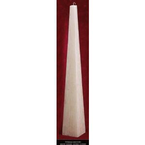 Λαμπάδα πυραμίδα ανάγλυφη κούφιο (Κωδ.1939000) (Η τιμή αφορά 2 Τεμάχια)
