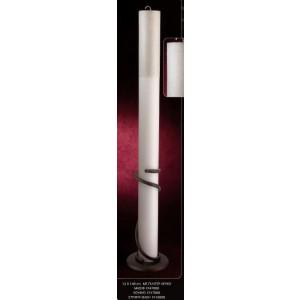 Λαμπάδα με γκλίτερ λευκό 12x140cm κούφιο (Κωδ.1937000) (Η τιμή αφορά 2 Τεμάχια)