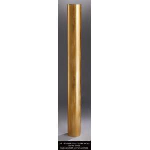 Λαμπάδα κερί στρογγυλό με χρώμα πατίνα χρυσό 15x140cm κούφιο (Κωδ.2449500) (Η τιμή αφορά 2 Τεμάχια)