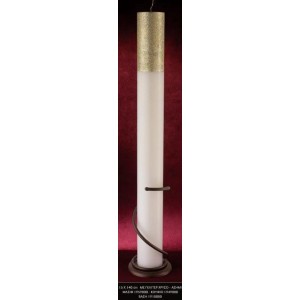 Λαμπάδα με γκλίτερ χρυσό ασημι 15x140cm κούφιο (Κωδ.1949000) (Η τιμή αφορά 2 Τεμάχια)