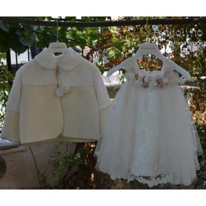 Ολοκληρωμένο σετ βάπτισης κορίτσι piccolino DR19F33 TULIANA IVORY-106 Με βαλίτσα rain η θρανίο παγκάκι!!!!