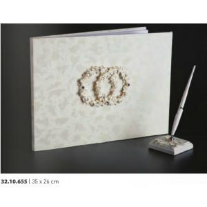 Βιβλίο ευχών γάμου 35Χ26cm Rodia 32.10.655(30)