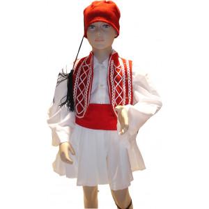Παιδική Στολή Παραδοσιακή Τσολιάς Κόκκινος 367.105.011
