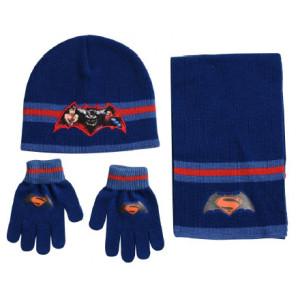 Σκουφάκι & Κασκόλ & Γάντια Batman VS Superman Disney (Μπλε) (Κωδ.200.503.023)